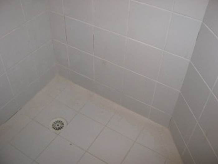 The shower before it is regrouted. Shower Repairs Perth   Leaking Shower Repairs Perth   Aquaseal